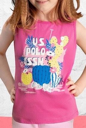 U.S Polo Assn. Us Polo 458 Kız Çocuk Şort Takım - - Fuşya - 4 Yaş