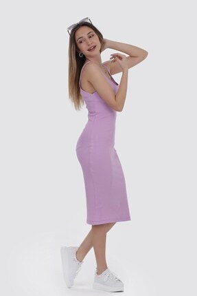 Zindi Kadın Askılı Elbise Lila