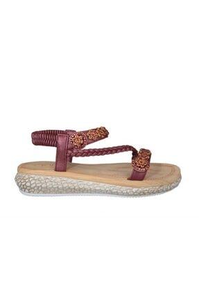Guja 19y209-3 Ortopedik Bordo Kadın Sandalet