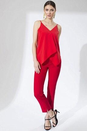Arma Life Yırtmaçlı Pantolon - Kırmızı