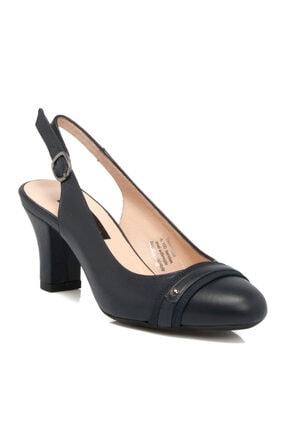 Tergan Lacivert Deri Kadın Ayakkabı 64194o15
