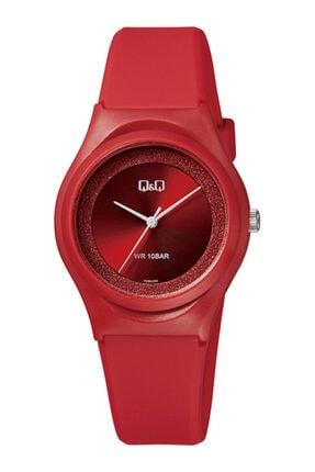 Q&Q Vq86 Bayan Kol Saati+100 Metre Su Geçirmez 6 Farklı Renk Kırmızı