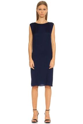 Lanvin Düz Desen Lacivert Elbise