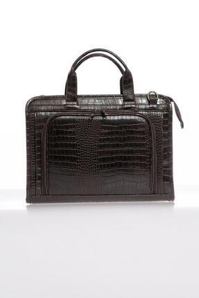 Sergio Giorgianni Luxury Sg071219 Kroko/kahve Unisex Evrak Çantası