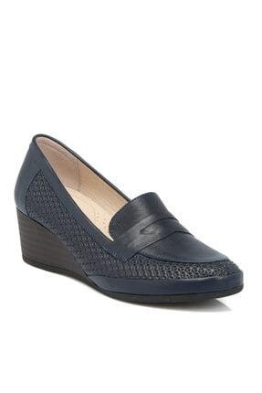 Tergan Lacivert Deri Kadın Ayakkabı 64342a31