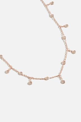 Lapidore Mini Zirkon Taşlı Sallantılı Rose Gold Kolye