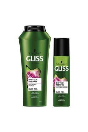 Gliss Bio-Tech Restore Güçlendirici Set (Şampuan 500 ML + Durulanmayan Sıvı Saç Kremi 200 ML)