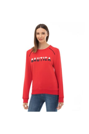 Nautica Nautıca Kadın Kırmızı Sweatshırt