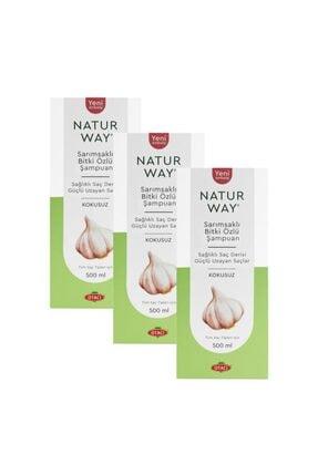Otacı Naturway Sarımsaklı Bitki Özlü Şampuan 500 ml X 3 Adet
