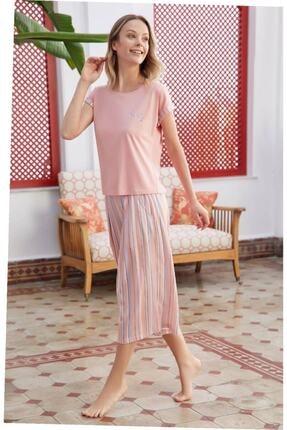 Eros Kadın Somon Pijama Takımı