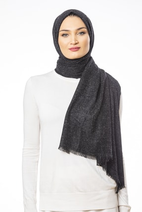 Versace Kadın Siyah Şal Nappa Seri 75x190 cm ve Eşarp Askısı
