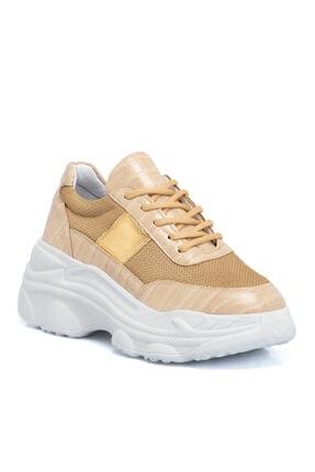 Tergan Kadın Altın Tekstil Ayakkabı
