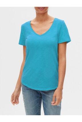 Gap V Yaka Kısa Kollu T-shirt