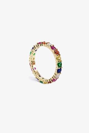 Lapidore Rainbow Tamtur Mini Gold Yüzük