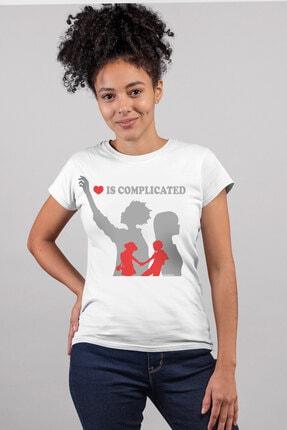 Rock & Roll34 Kadın Beyaz Karışık Işler Kısa Kollu T-shirt