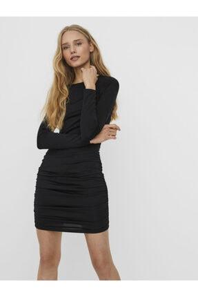 Vero Moda Uzun Kollu Büzgü Detaylı Elbise 10239757 Vmnext