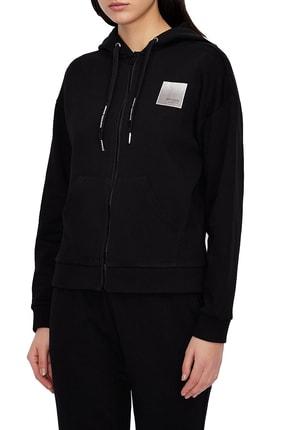 Armani Kadın Siyah Kapüşonlu Sweatshirt  3kym61 Yj2hz 1200