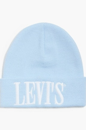 Levi's Kadın Mavi Serif Logo Beanie Bere