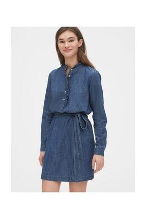 Gap Fırfır Detaylı Gömlek Elbise