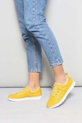 Fast Step Kadın Sarı Deri Casual Ayakkabı 934za105lzr