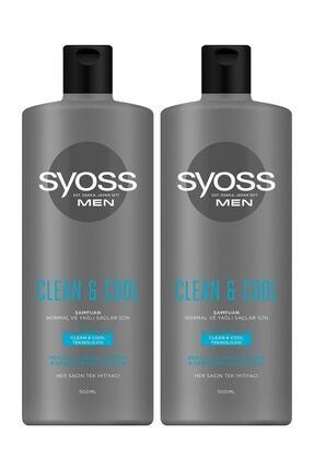Syoss Men Clean & Cool Şampuan 500 ml X2 Adet