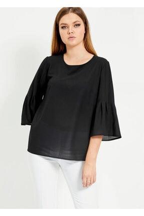 Cazador Kadın Siyah Uzun Kol Bluz
