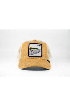 Goorin Bros Unisex Bej Balık Figürlü Şapka