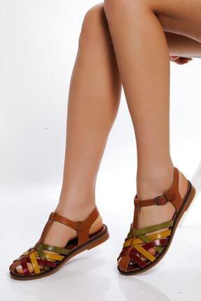 derithy Kadın Multi 1 Hakiki Deri Sandalet