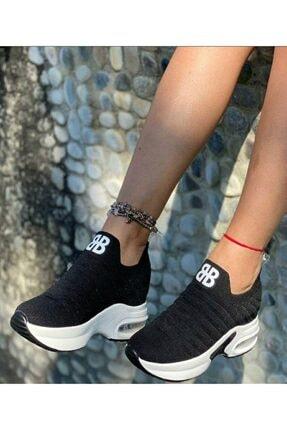Guja Kadın Siyah Yüksek Taban Spor Ayakkabı