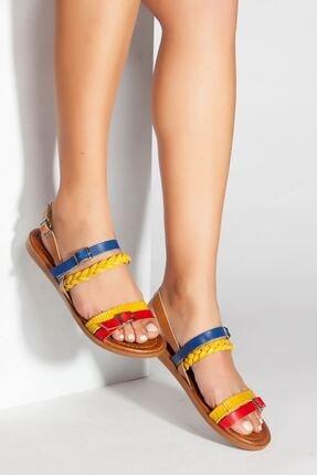 derithy -hakiki Deri Sandalet-multi 1