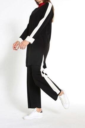 ALLDAY Siyah Garnili Pantolonlu Ikili Triko Takım