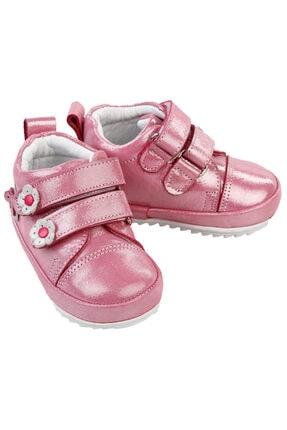 Baby Force Kız Bebek Deri Ilkadım Ayakkabısı 18-21 Numara Pembe