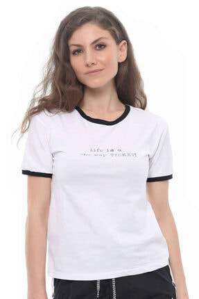Cazador Cdr 5077 Tişört Beyaz