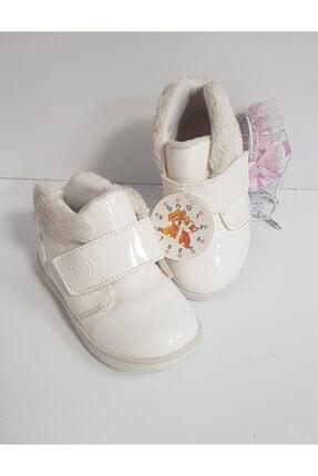 Pappix Ritim Çocuk 23 Numara Ilk Adım Cırtcırtlı Kışlık Kız Bebek Ayakkabısı Krem Renk