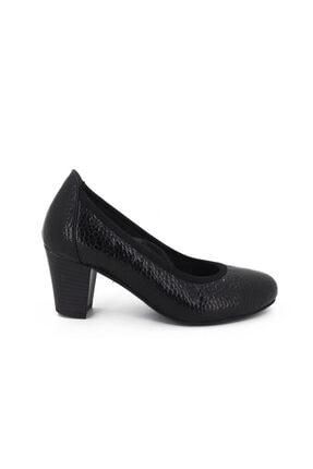 Hobby Siyah Kroko Rugan Deri Topuklu Kadın Ayakkabı 105