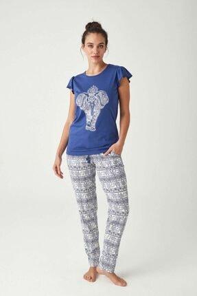 Mod Collection Kadın Indigo Pijama Takımı