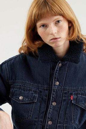 Levi's New Heritage Sherpa Kadın Koyu Mavi Trucker Ceket