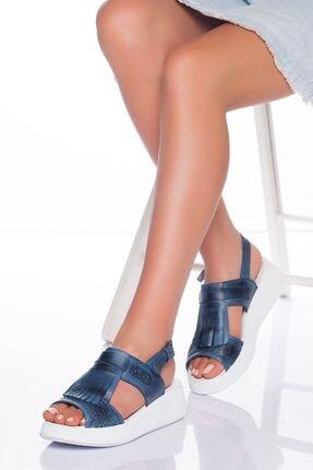 derithy Kadın Kot Mavi Sandalet