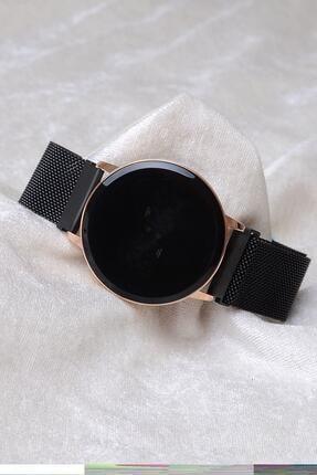 Spectrum Unisex Siyah Mıknatıslı Dokunmatik Kol Saati Xt250127