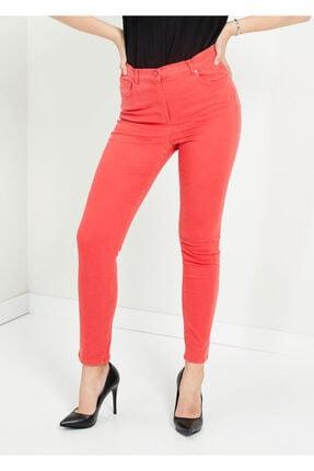 Cazador Kadın Nar Çiçeği Dar Paça Slim Fit Pantolon