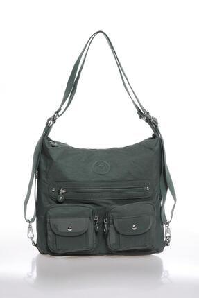 Smart Bags Kadın Haki Sırt ve Omuz Çantası Smbk1118-0005