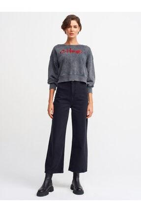 Dilvin Kadın Siyah Ön Bölümü Cepsiz Pantolon