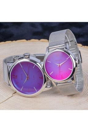 Spectrum Sevgili Saatleri Renkli Cam Saat Kombinleri Erkek Bayan Çift Hediye St-303781