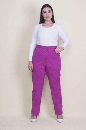 Şans Kadın Fuşya Gabardin Kumaş 5 Cepli Pantolon 65N22025