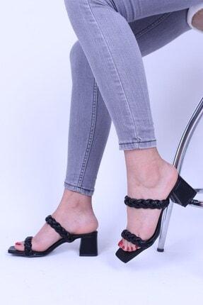 Derigo Siyah Kadın Topuklu Sandalet 3952