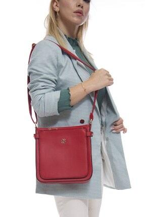 Fume London Kırmızı Kadın Bölmeli Askılı Çanta Fb3001