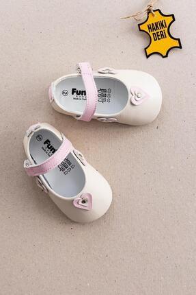 Funny Baby Hakiki Deri Ilk Adım Kız Bebek Ayakkabı Deri Bebek Patik