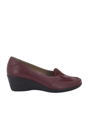 Hobby Bordo Deri Günlük Kadın Ayakkabı 192