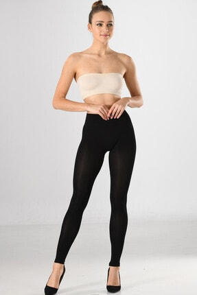 Miss Fit Kadın Yüksek Bel Toparlayıcı Tayt 34819 Siyah Örme Seamless Dikişsiz Soft Basic