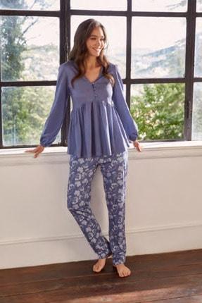 Eros Ese27632 Pamuklu Uzun Kollu Kadın Pijama Takımı